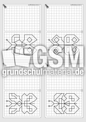 Gitterbilder zeichnen 2-11 - Arbeitsblätter - Gitterbilder zeichnen ...
