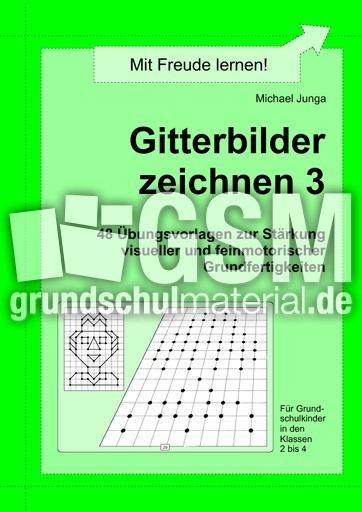 Gitterbilder zeichnen 3 - Arbeitsblätter - Gitterbilder zeichnen ...