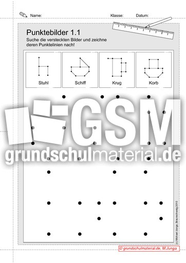 punktebilder 1 punktebilder nachzeichnen geometrie