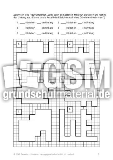 Umfang und Fläche - Umfang und Fläche - Geometrie - Mathe Klasse 3 ...