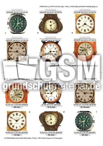Zeit-1 - Sachrechen - Kopfrechnen mit Faltkarten - Kopfrechentraining - Mathe Klasse 3 ...