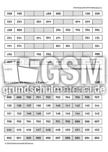 Reihe-5 - ZR bis 1.000 - Kopfrechnen mit Faltkarten ...