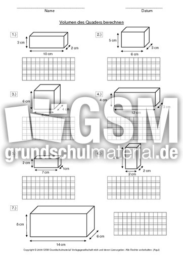 ab volumen des quaders berechnen volumen rechnen mit gr en mathe klasse 3. Black Bedroom Furniture Sets. Home Design Ideas