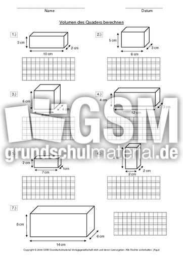 ab volumen des quaders berechnen volumen rechnen mit. Black Bedroom Furniture Sets. Home Design Ideas