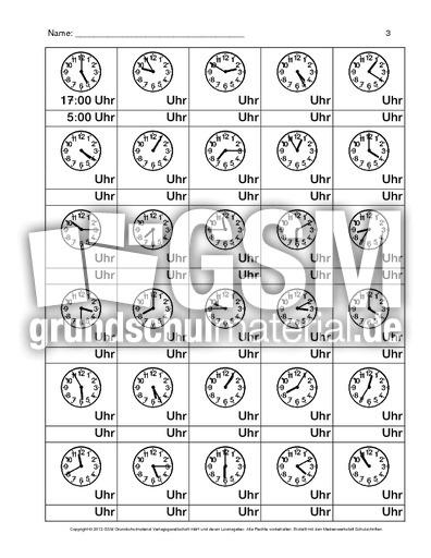 Uhr Arbeitsblatt 1 8 Arbeitsblätter Uhrzeiten Mathe Klasse 3