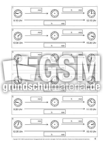 Zeitspannen-berechnen-B-1-10 - Arbeitsblätter - Uhrzeiten - Mathe ...