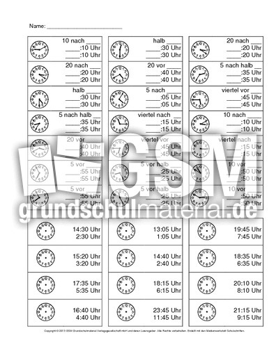 Arbeitsblatt Uhr Klasse : Arbeitsblatt vorschule arbeitsblätter uhr klasse