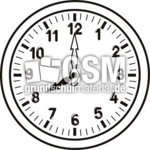 Uhr 08-00_sw - Uhrzeit sw - Uhren-Bilder - Uhrzeiten ...