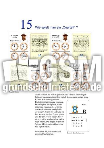 Anleitung Quartett