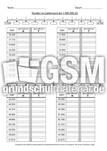 AB Runden 2 - Einführung - Erweiterung ZR 10.000 - Mathe Klasse 4 ...