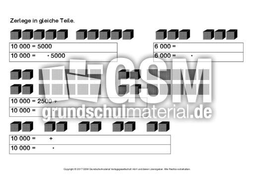 zahlen bis 10000 zerlegen 2 einf hrung erweiterung zr mathe klasse 4. Black Bedroom Furniture Sets. Home Design Ideas