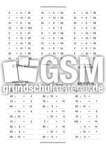 ZR100-geteilt Teiler 10-5 - Faltkarten 1x1 - Mathe Klasse ...
