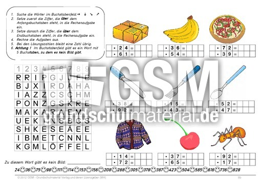 arbeitsblatt vorschule 187 rechenaufgabe 4 klasse
