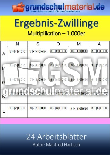 1000er-Multiplikation - Ergebniszwillinge - Multiplikation - Mathe ...