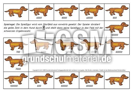 Wu00fcrfelspiel-Hund-durch-5 - Wu00fcrfelspiele-Division - Rechenspiele - Mathe Klasse 4 ...