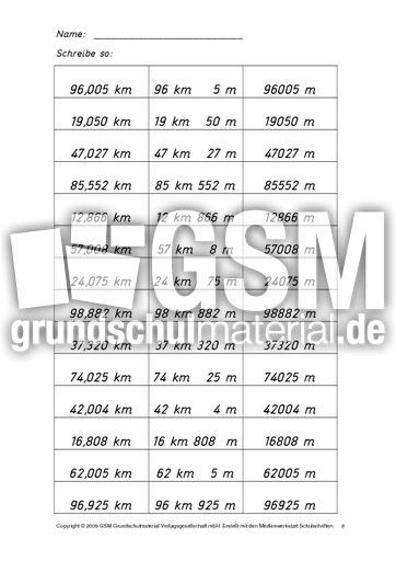 Arbeitsblätter Mathe Meter Zentimeter : Ab kilometer meter b lös zentimeter