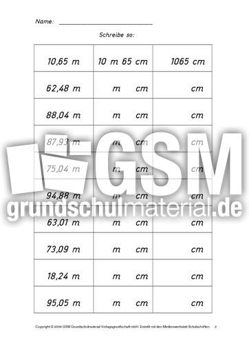 AB-Meter-Zentimeter 2 - Kilometer-Meter-Zentimeter - Rechnen mit ...