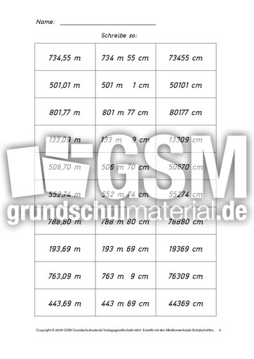 Arbeitsblätter Mathe Meter Zentimeter : Ab meter zentimeter lös kilometer