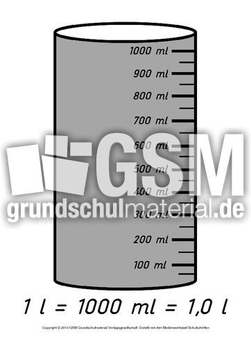 tafelbild 1000 milliliter tafelbilder liter milliliter liter milliliter rechnen mit gr en. Black Bedroom Furniture Sets. Home Design Ideas