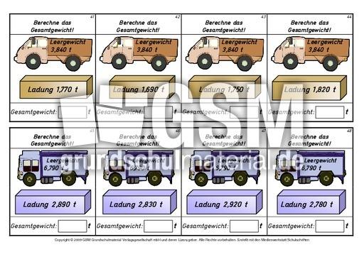 Kartei-Tonne-Lastwagen 6 - Kartei-Tonne - Rechnen mit ...