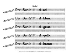 Arbeitsblatt in der Grundschule - DaZ-Farbwörter - Deutsch DaZ ...