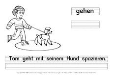 Deutsch als Fremdsprache in der Grundschule - Ausmalbilder Verben ...