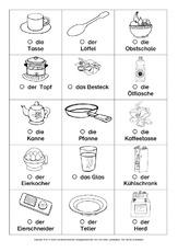 Küchengeräte in der Grundschule - Grundschulmaterial.de
