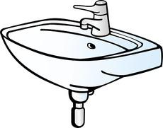 Waschbecken zeichnung  Waschbecken in der Grundschule - Deutsch Klasse 1 ...