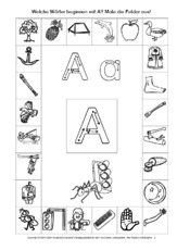 Anlaute zuordnen in der Grundschule - Anlaute - Deutsch Klasse 1 ...