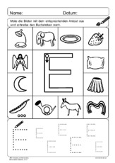 Anlaute - Deutsch Klasse 1 - Grundschulmaterial.de