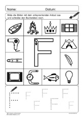 Arbeitsblatt in der Grundschule - ABC Anlaute und Buchstaben ...