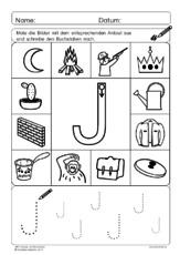 Arbeitsblatt in der Grundschule - Anlaute und Buchstaben - Übungen ...