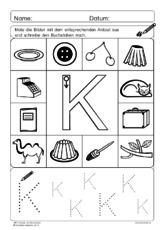 Anlaute und Buchstaben - Übungen zu Anlauten-einzeln - ABC Anlaute ...