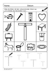 Schreibrichtung (Arbeitsblatt) in der Grundschule - Deutsch ...
