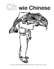 Ch Wie Chinese Ausmalbilder Zum Abc Anlaute Deutsch Klasse 1