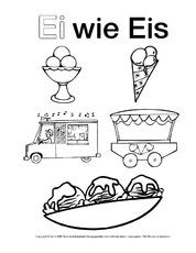 Eis (Arbeitsblatt) in der Grundschule - Ausmalbilder zum ABC ...