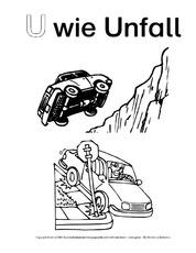 Unfall Arbeitsblatt In Der Grundschule Ausmalbilder Zum Abc