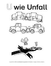 Unfall Arbeitsblatt In Der Grundschule Anlaute Deutsch Klasse