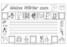 Buchstabe P In Der Grundschule Grundschulmaterial Fibel Deutsch