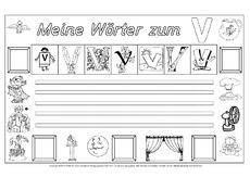 Buchstabe v arbeitsblatt in der grundschule for Raumgestaltung lyrik