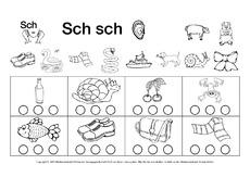 Buchstaben hören (Arbeitsblatt) in der Grundschule - Deutsch Klasse ...