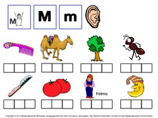 Buchstaben hören (Arbeitsblatt) in der Grundschule - AB zu ...