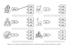 lernheft in der grundschule silben zusammensetzen grundschulmaterial fibel deutsch klasse. Black Bedroom Furniture Sets. Home Design Ideas