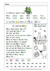 Sätze lesen (Arbeitsblatt) in der Grundschule - Jo-Jo Fibel - In ...