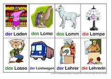 wortbildkartei in der grundschule nomen deutsch