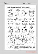 Sehen - Denken - Schreiben (Arbeitsblatt) in der Grundschule ...