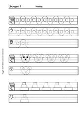 Arbeitsblatt in der Grundschule - Schwungübungen - Schreiben lernen ...