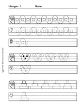 arbeitsblatt in der grundschule schreiben deutsch klasse 1. Black Bedroom Furniture Sets. Home Design Ideas