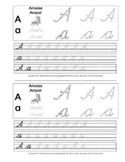 Schulausgangsschrift Arbeitsblatt In Der Grundschule übungen Sas
