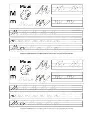Schreibschrift In Der Grundschule übungen Va